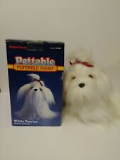 Vintage Radio Shack Pettable White Terrier Dog Animal Portable AM/FM Radio.