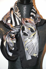 """VERSACE AUTHENTIC 100% SILK TWILL SCARF FOULAND 35""""x 34""""  Made in ITALY $320 NEW"""