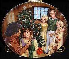 Little House on the Prairie Family Christmas Plate