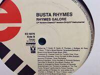 "busta rhymes - Turn it up / Rhymes Galore - 12"" vinyl Single Record PROMO COPY"