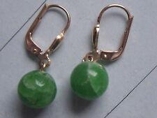 Smaragd Kugel Ohrhänger Gold 585, Ohrhänger Gold 585 mit Smaragd Kugeln 8 mm
