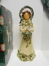 Heather Goldmine Blue Sky Clayworks Nature's Angel Hurricane lamp tea light Box