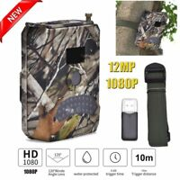 1080P HD 12MP Hunting Trail Camera Digital Wildlife Scouting IR Night Vision Cam