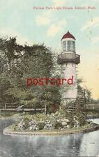 1912 DETROIT Palmer Park Light House, mailed to Mrs. D.A. Yackly