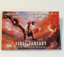 Final Fantasy Button DVD Release Date Promo 10 - 23 - 01 Pinback Badge Pin