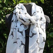 Greyhound Whippet 100% Cotton Scarf Wrap Pashima Shawl  Dog Lovers Gift