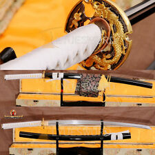Damascus Steel Samurai Katana Full Tang Japanese Sword Sharp Blade With Bo-Hi
