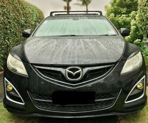 FITS MAZDA 3 2010- BLACK ALU V3 ROOF RACK CROSS BARS CROSS RAIL LOCKABLE