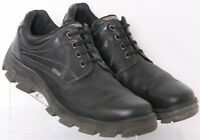Ecco Black Leather Lace-Up Plain Toe Oxford Sneaker Shoe Euro 46 Men's US 13
