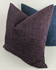 High Quality John Lewis Rothko Chenille Purple Cushion Cover  Double Sided