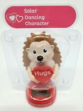 NEW Solar Powered Hedgehog Valentines Day Heart Love Bobble Head Toy