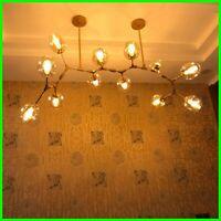 Modern Glass Chandelier Branching Nordic Dining Room Kitchen Light Designer Lamp