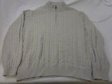 Vintage Izod 1/2 Zip Knit Men's Sweater Size XXL