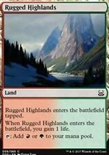4X Rugged Highlands NM Duel Decks: Mind vs. Might Land Common MTG