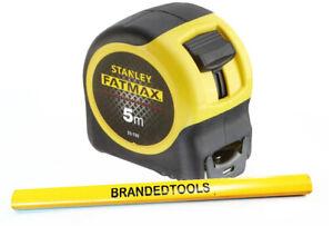 STANLEY® FATMAX™ BLADE ARMOR TAPE METRIC 5m 0-33-720 + Carpenter Pencil