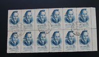 China 1955 Stamps Scientists 8f SG1661 Block of 12 Used with Right Margins