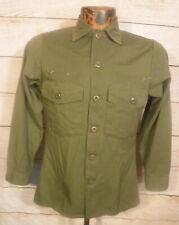 1978 VTG Vietnam War Og 507 Utility Fatigue Shirt Mens XS US Army EUC 70s 80s