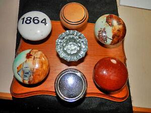 Unusual Door Knob Collection: Bennington, Glass, Chrome, Hand Painted Porcelain(