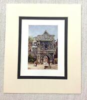 1906 Antico Stampa Città Di Norwich The Ethelbert Gate Old English Architettura