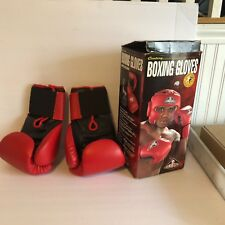 """Century Boxing Gloves in Original Box Red 3.5"""" Wide Hook Moisture Absorbent"""