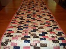 "Table Runner/Bed Runner, Handcrafted & Hand Quilted, 20 1/2"" x 71"", Reversible"