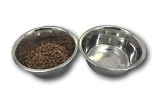 """Stainless Steel Dog Bowl Set, 8""""Large, 64oz / 2-Quart, Without Annoying Stickers"""