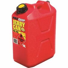 Jerry Can 10 Litre Tough Red Plastic Petrol Diesel Fuel Pourer Inbuilt Approved