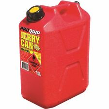 JERRY CAN 10 L LT TOUGH RED PLASTIC 10 LITRE PETROL DIESEL FUEL +POURER APPROVED