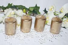 Stumpenkerzen 60/40 Kerzen Tischdeko Hochzeit  4St. gold