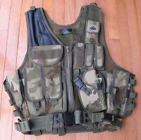 Law Enforcement Deluxe Tactical Vest with Holster, Pouches, Utility Belt Camo