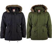 Men's Padded Fishtail Parka Coat by Fieldfox - Detachable Hood SALE PRICE £23.99