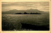 1943 Stempel TEISSENDORF auf AK Chiemsee Bayern mit Frauen-Insel Postkarte