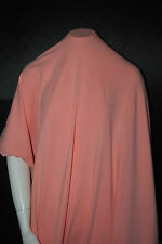 Cotton Jersey Lycra Knit Fabric 4 ways Stretch Luxurious Salmon Color 10 oz