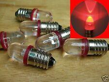 S242 - 10 Stück LEDs 10mm rot 12-16V für Fassung E10