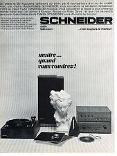 publicité advertising  1967   SCHNEIDER  chaine hi-fi