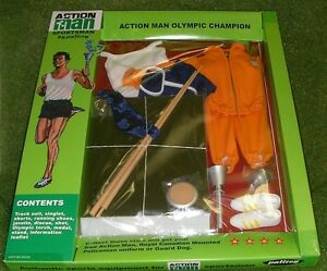 VINTAGE ACTION MAN 40th CARDED SPORTSMAN OLYMPIC CHAMPION NEW