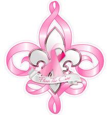Fleur de cure breast cancer awareness vinyl decal