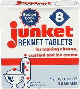 1 Pack, Box of 8 Junket Rennet Tablets (net wt 0.23 oz) Exp. Sep/2021
