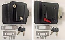 2 Black RV Entry Door Lock Handle Deadbolt Keyed Alike Travel Trailer CW FIC