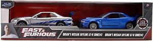 "Fast & Furious Twin Pack Brian's Nissan Skyline GT-R Hardtop JadaDiecast 5"" 1:32"