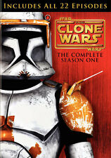 Lucasfilm Animation Star Wars The Clone Wars Season 1 One on DVD with Slipcover