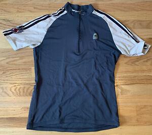 Sugoi Mens Large short sleeve vented cycling jersey shirt 1/4 zipper
