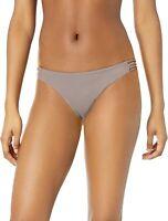 RVCA Women's 242983 Truffle Solid Loop Side Bikini Bottom Swimwear Size M