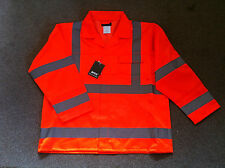 Hi Viz Hi Vis ARCO work Jacket Orange Red Warning Class 2 High Visibility M or L