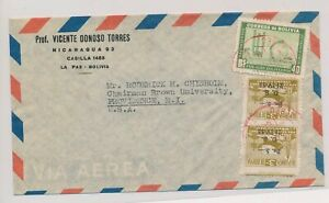 LO35472 Bolivia air mail to Providence good cover used