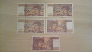 Lot 5 billet 20 francs Claude Debussy