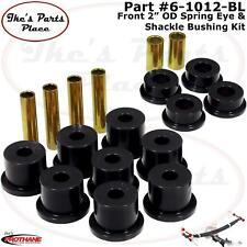 "Prothane 6-1012-BL Frt 2"" Bushing OD Spring Eye & Shackle Bush Kit F250/F350 4wd"