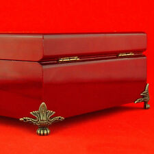 4Pcs Antique Decorative Jewelry Gift Box Wooden Case Corner Protector Feet Leg