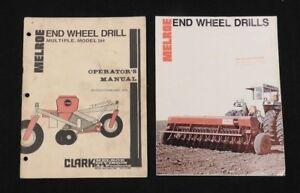 1970's CLARK MELROE MODEL 264 END WHEEL DRILL OPERATORS MANUAL & SALES BROCHURE