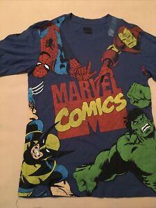 NWT Marvel Comics Spider-Man Kids t-shirt size XL-14-Boys
